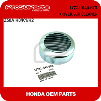 (Honda OEM) Z50A K0-K2 - COVER, AIR CLEANER