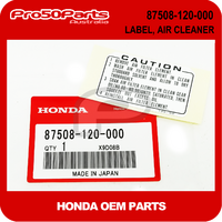 (Honda OEM) Z50 - Label, Air Cleaner