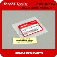 (Honda OEM) Z50J1/R - LABEL, OPERATOR WARNING *NH1*
