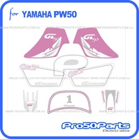 (PW50) - Sticker Decal Graphics Set A (Pink)