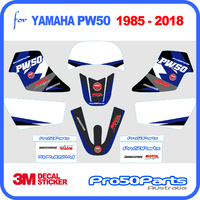 (PW50) - Decal Graphics PW Style (Blue) - Pro50parts