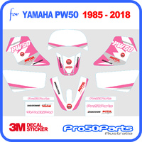(PW50) - Decal Graphics PW Style (Pink) - Pro50parts