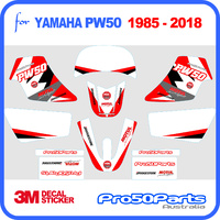 (PW50) - Decal Graphics PW Style (Red) - Pro50parts