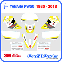 (PW50) - Decal Graphics PW Style (Yellow) - Pro50parts