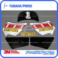 (PW50) - Decal Graphics PEEWEE Style (Black, White, Red)