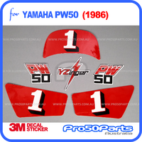 (PW50) - Decal Graphics YZinger Style (Red)
