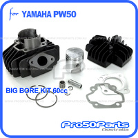 (PW50) - Cylinder Big Bore 44mm Rebuild Kit, 60cc (Inc Cylinder, Head, Piston Kit, Rings & Gasket)