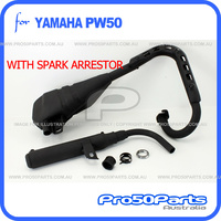 (PW50) - Exhaust Pipe and Silencer (with Spark Arrestor)