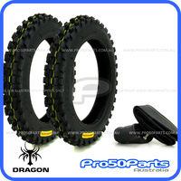 "***Dragon Tyre*** - Tyre & Tube (2.50-10"", 2pcs)"