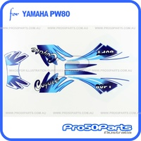 (PW80) - Sticker Decals, Graphics Sticket Kit (Coyote)