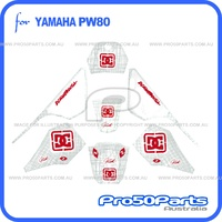 (PW80) - Decal Sticker Graphics (DC, Red)