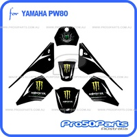 (PW80) - Decal Sticker Graphics (Monster Energy)