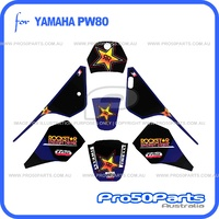 (PW80) - Decal Sticker Graphics (Rockstar, Blue)