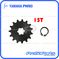 (PW80) - Sprocket, Front Drive (420, 15T)