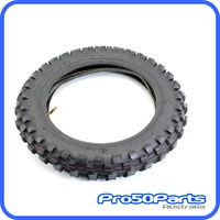 "(PW80) - Tyre, Rear Tyre and Tube 80/100x12"", 3.00x12"""