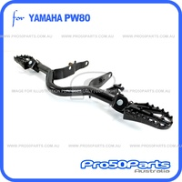 (PW80) - Footrest Mounting Bracket with Racing Style Footpeg