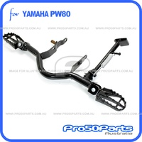 (PW80) - Footrest Mounting Bracket, Footpeg Racing Style with Side Stand