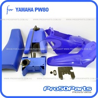(PW80) - Package of Plastics Fender Cover (Painted Blue), Fuel Tank, Air Cleaner and Seat (Blue)