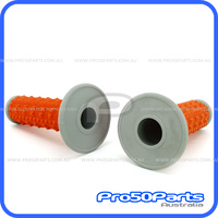 Throttle Grip Set (Diamond, Orange)