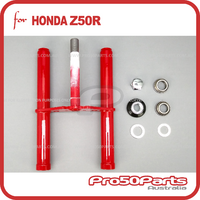 (Z50R) - Front Fork Steering Column (Red, Triple Tree)